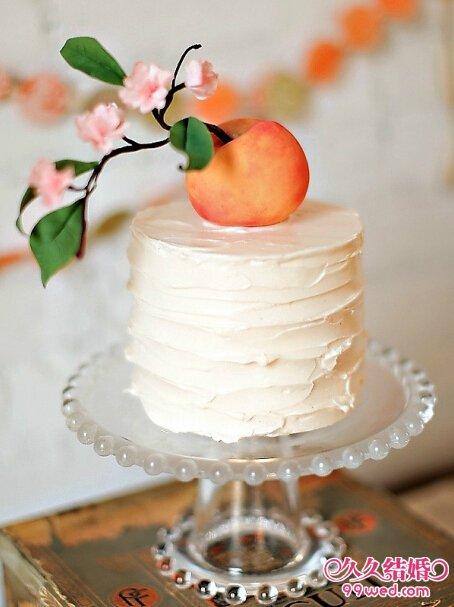 单层水果婚礼蛋糕 演绎甜蜜婚礼