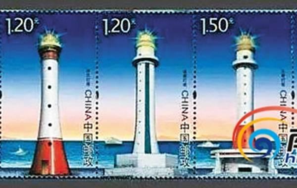 """""""的越南""""长沙群岛""""(即中国南沙群岛——编者注)5个礁上建设的5座灯塔."""