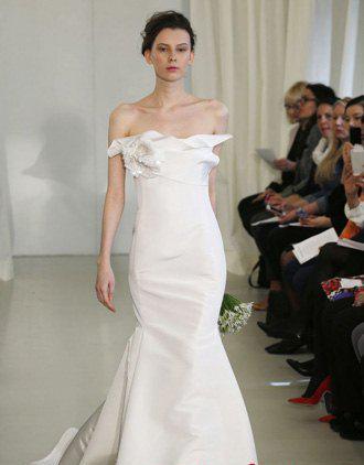 2014春夏婚纱流行款式盘点 让你成为童话中的公主