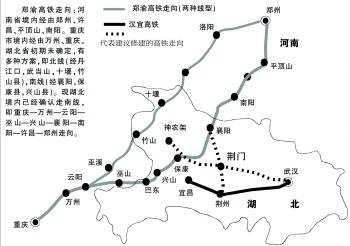 北京到宜昌高铁