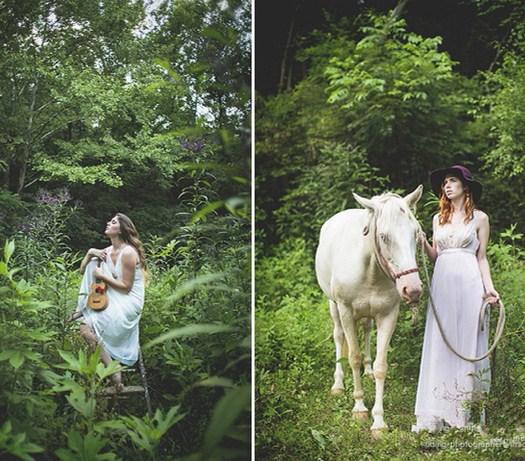 森系婚纱照摄影作品 一起私奔到森林