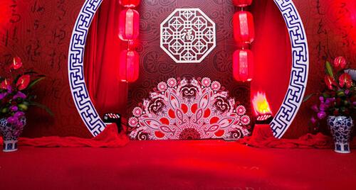 中式婚礼布置效果图 打造喜庆婚礼