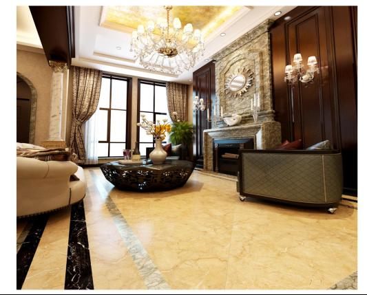 日式风格 日式风格多使用浅色瓷砖,浅色或暖色调的瓷砖与家中整体风格相融合,为日式风格中的那一份中规中矩添入了简洁明快的气息。设计师采用的这款法恩莎臻蓝山,黄褐色底纹配以乳白色曲线,色调高贵,线条简约,整个空间看起来柔和,干净。 法恩莎臻稀石系列