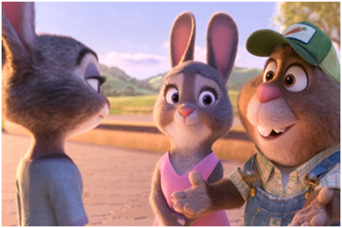 在疯狂动物城中兔子朱迪和狐狸尼克经历的许多跌宕